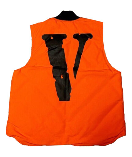 Vlone Carhartt Vest - Orange (Back)
