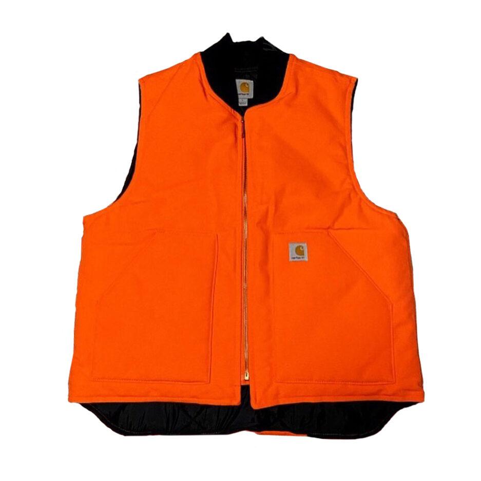 Vlone Carhartt Vest - Orange (Front)