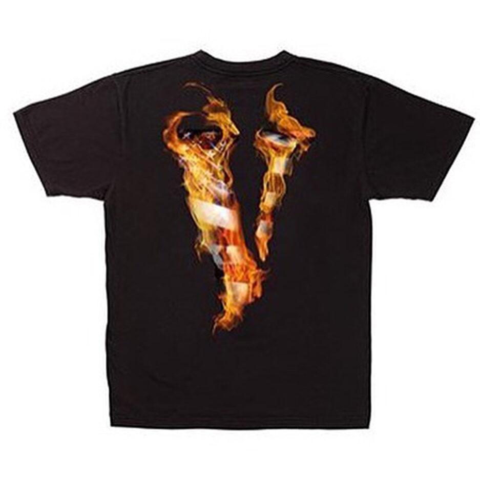 Vlone LOVE- T-Shirt - Black (Back)