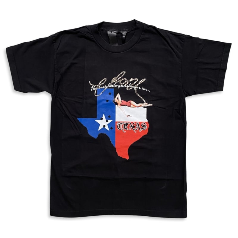 Vlone Texas Gunslinger State Tee - Black (Front)