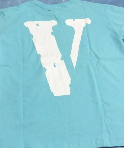 Vlone Turquoise T-Shirt - Blue (Back)