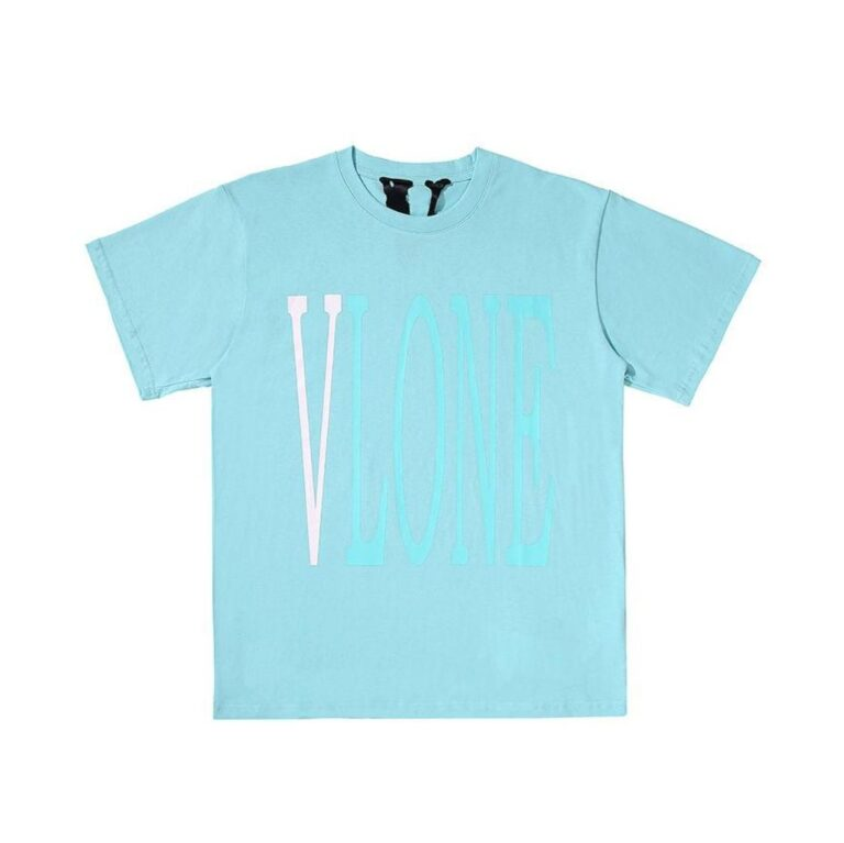 Vlone Turquoise T-Shirt - Blue (Front)