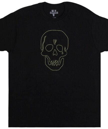 Vlone x Neighborhood Skull Black T-Shirt (Front)
