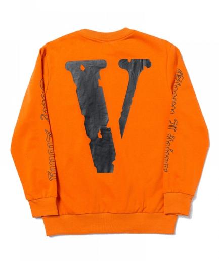 Vlone x OFF-WHITE Sweatshirt - Orange (Back)
