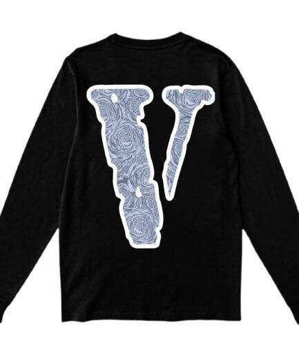 Vlone x Pop Smoke The Woo Long Sleeve - Black (Back)