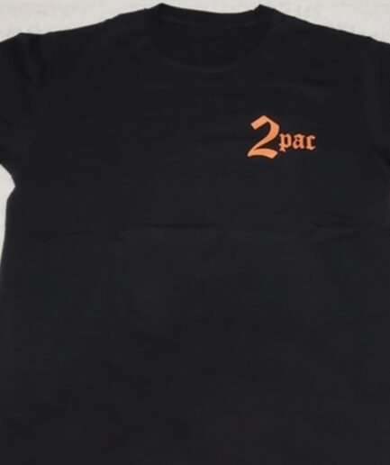 Vlone x Tupac Cross Black T-Shirt (Front)