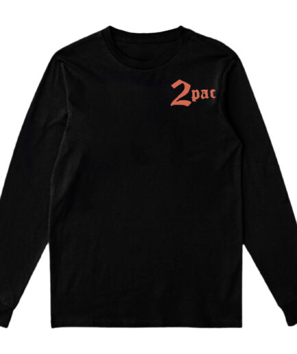 Vlone x Tupac Cross Long Sleeve - Black (Front)