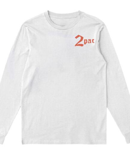 Vlone x Tupac Cross Long Sleeve - White (Front)