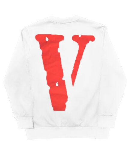Vlone x Tupac Rebel Of The Underground Hoodie - White (Back)