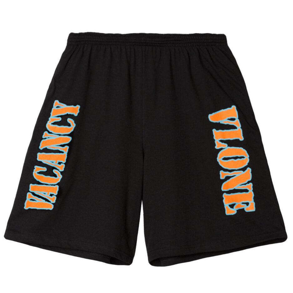 Vlone x No Vacancy Inn OG Shorts - Black (Front)