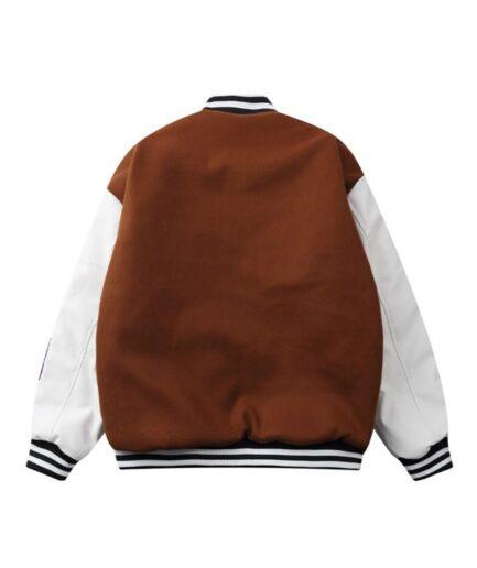 Asap Rocky AWGE All Smiles Smiley Varsity Jacket (Back)