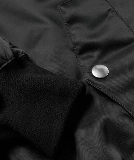 Palm Angels Patch Logo Varsity Jacket - Black (Detail 2)